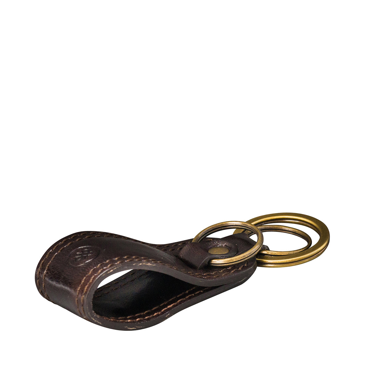 Image 3 of the 'Nepi' Dark Chocolate Veg-Tanned Leather Key Ring