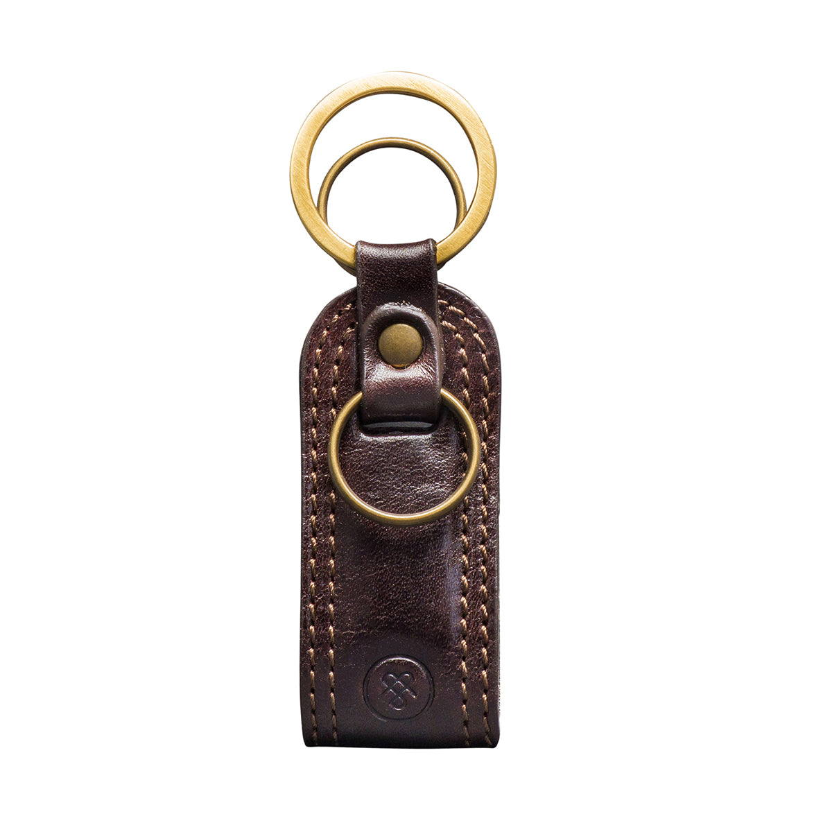 Image 1 of the 'Nepi' Dark Chocolate Veg-Tanned Leather Key Ring