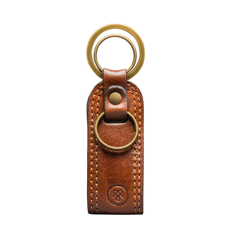 Image 1 of the 'Nepi' Chestnut Veg-Tanned Leather Key Ring
