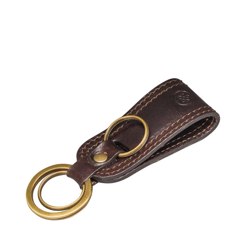 Image 2 of the 'Nepi' Dark Chocolate Veg-Tanned Leather Key Ring