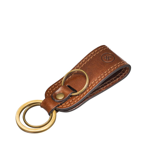 Image 2 of the 'Nepi' Chestnut Veg-Tanned Leather Key Ring