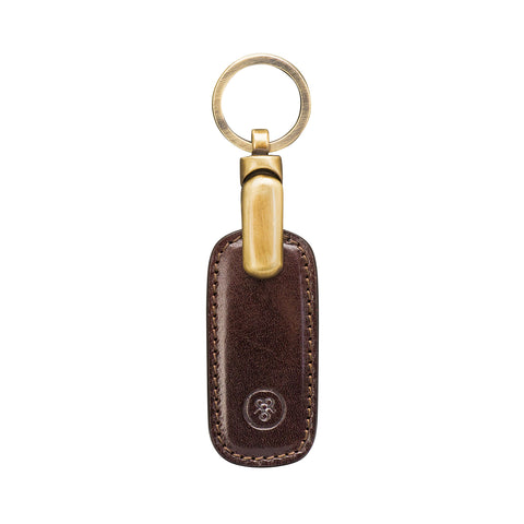 Image 1 of the 'Ponte' Dark Chocolate Veg-Tanned Leather Key Ring