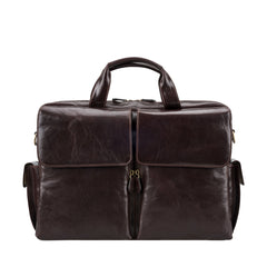 Image 1 of the 'Lagaro' Dark Chocolate Veg-Tanned Leather Briefcase