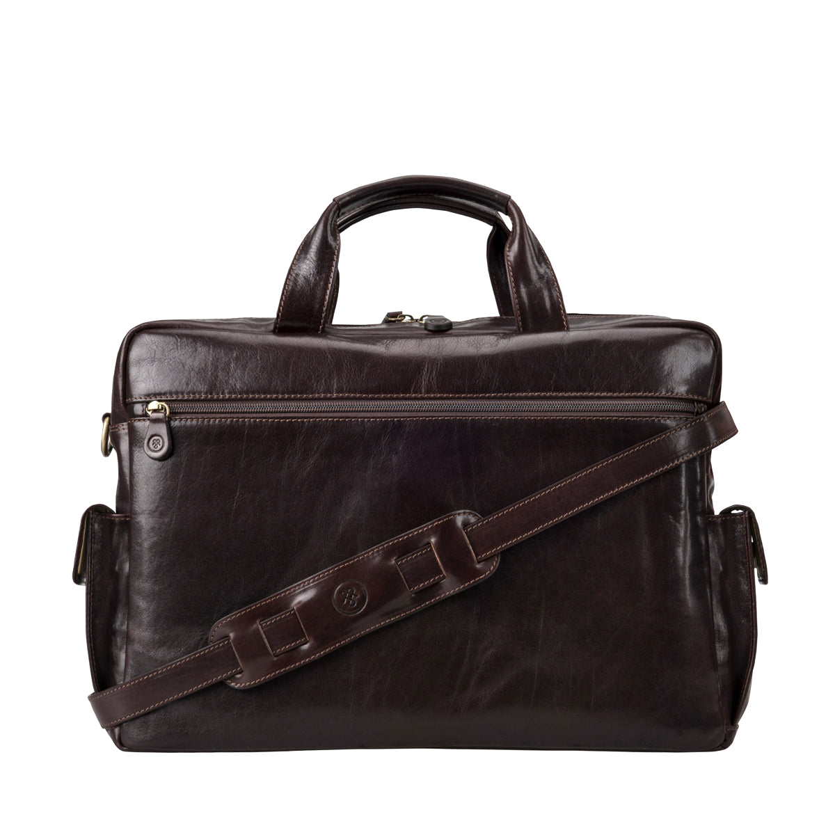 Image 4 of the 'Lagaro' Dark Chocolate Veg-Tanned Leather Briefcase