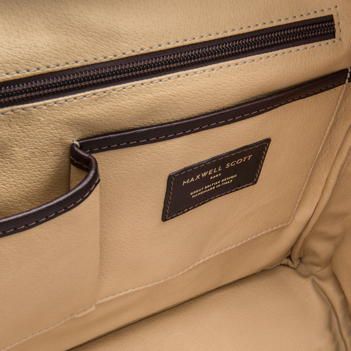 Image 6 of the 'Lagaro' Dark Chocolate Veg-Tanned Leather Briefcase