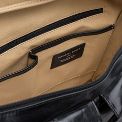 Image 6 of the 'Lagaro' Black Veg-Tanned Leather Briefcase