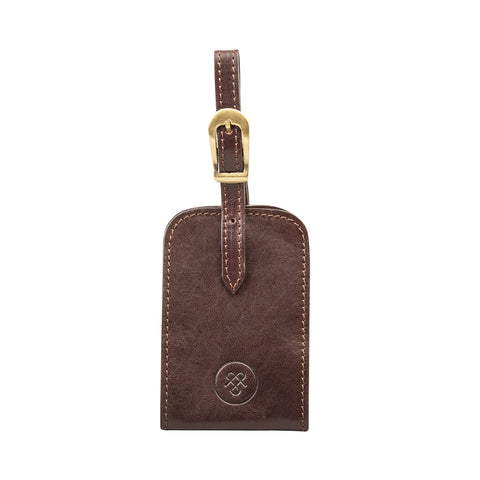 Image 1 of the 'Ledro' Brown Leather Bag Tag