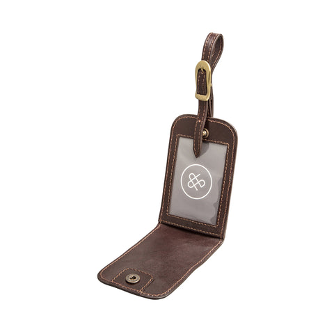 Image 2 of the 'Ledro' Brown Leather Bag Tag
