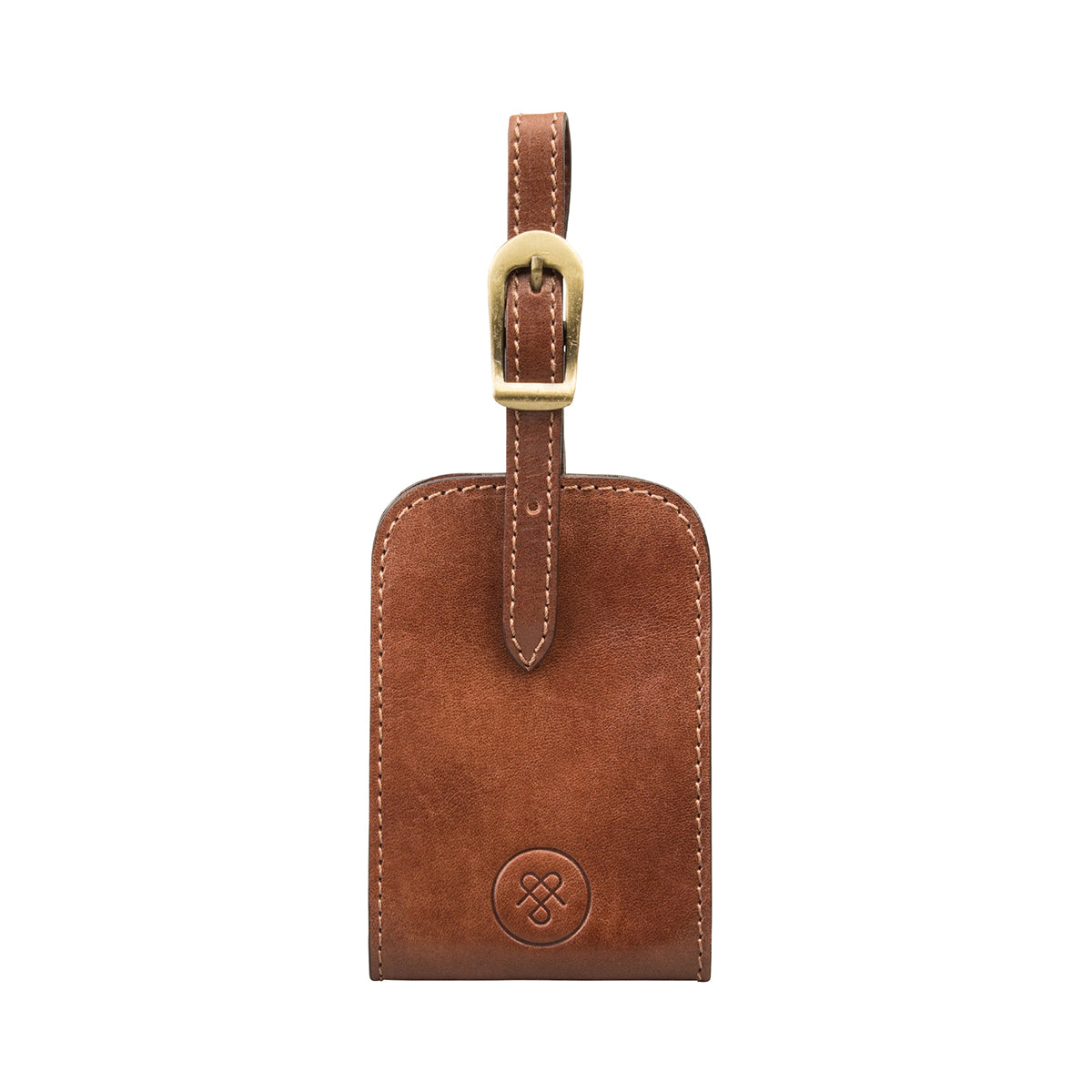 Image 1 of the 'Ledro' Leather Luggage Tag
