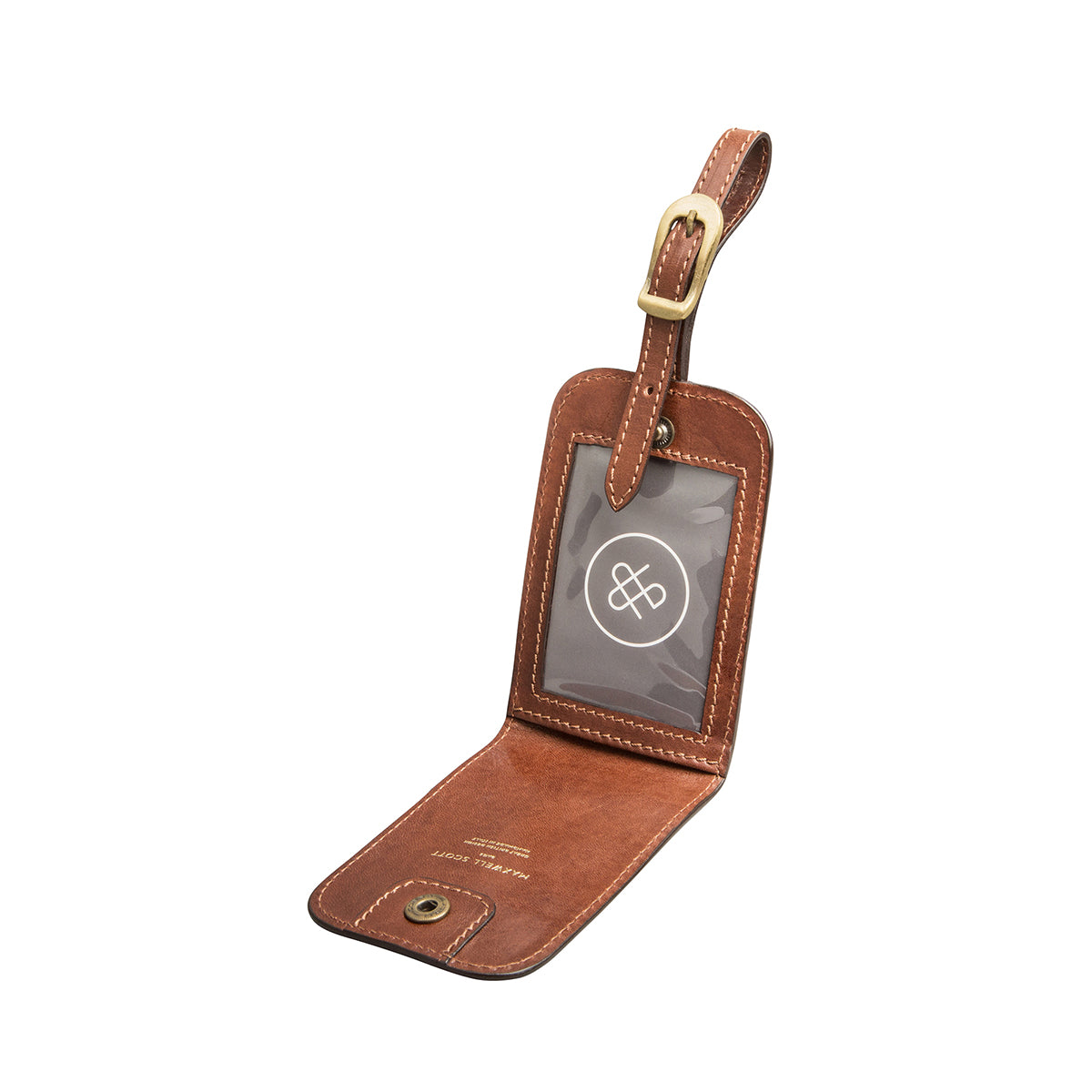 Image 2 of the 'Ledro' Leather Luggage Tag