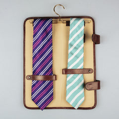 Image 6 of the 'Tivoli' Chestnut Veg-Tanned  Leather Tie Case