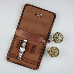 Image 6 of the 'Atella' Chestnut Veg-Tanned Leather Watch Presentation Case