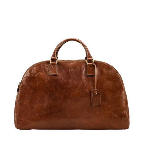 Image 1 of the 'Liliana' Chestnut Veg-Tanned Leather Holdall