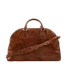 Image 4 of the 'Liliana' Chestnut Veg-Tanned Leather Holdall