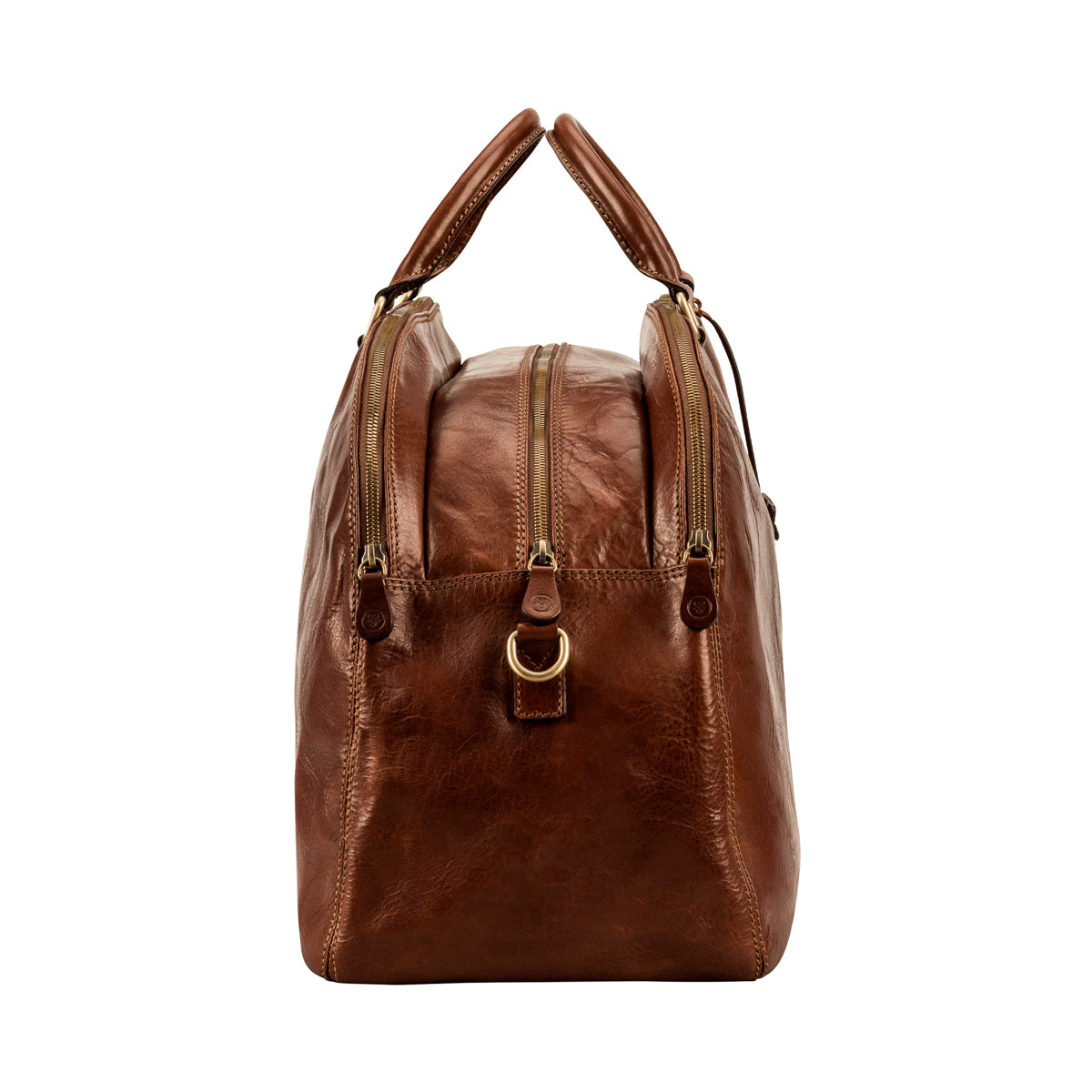 Image 3 of the 'Liliana' Chestnut Veg-Tanned Leather Holdall