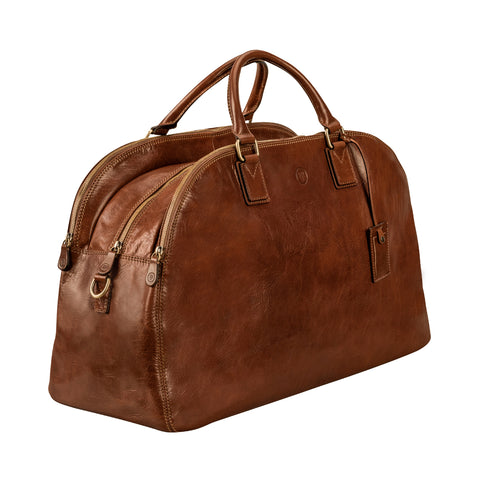 Image 2 of the 'Liliana' Chestnut Veg-Tanned Leather Holdall