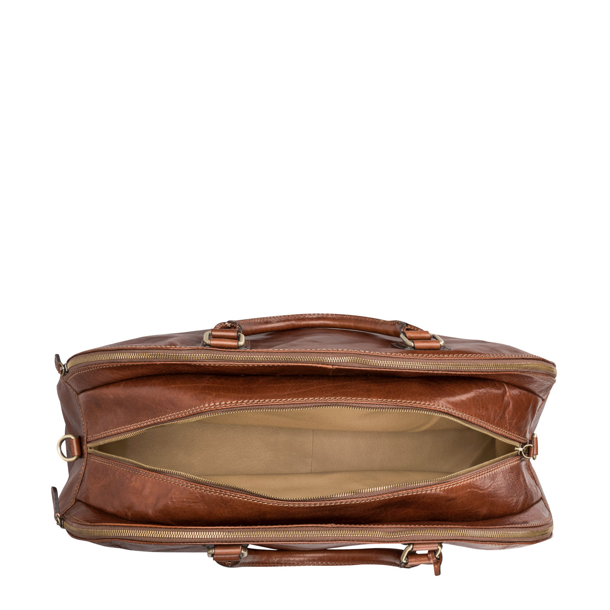 Image 5 of the 'Liliana' Chestnut Veg-Tanned Leather Holdall