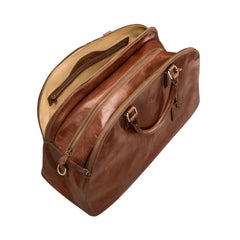 Image 6 of the 'Liliana' Chestnut Veg-Tanned Leather Holdall