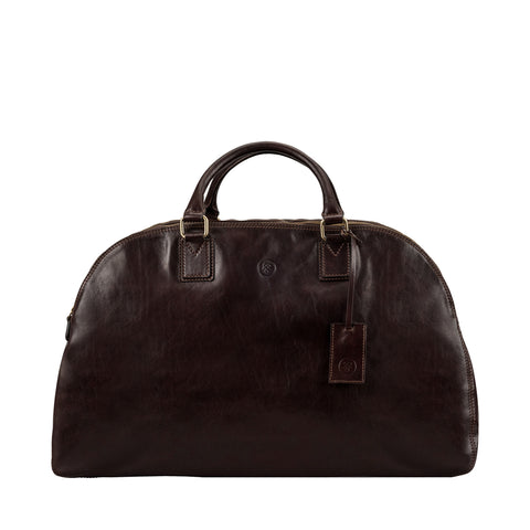 Image 1 of the 'Liliana' Dark Chocolate Veg-Tanned Leather Holdall