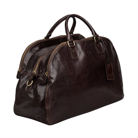 Image 2 of the 'Liliana' Dark Chocolate Veg-Tanned Leather Holdall