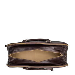 Image 5 of the 'Liliana' Dark Chocolate Veg-Tanned Leather Holdall