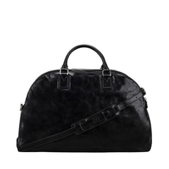 Image 4 of the 'Liliana' Black Veg-Tanned Leather Holdall