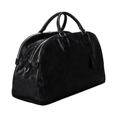 Image 2 of the 'Liliana' Black Veg-Tanned Leather Holdall