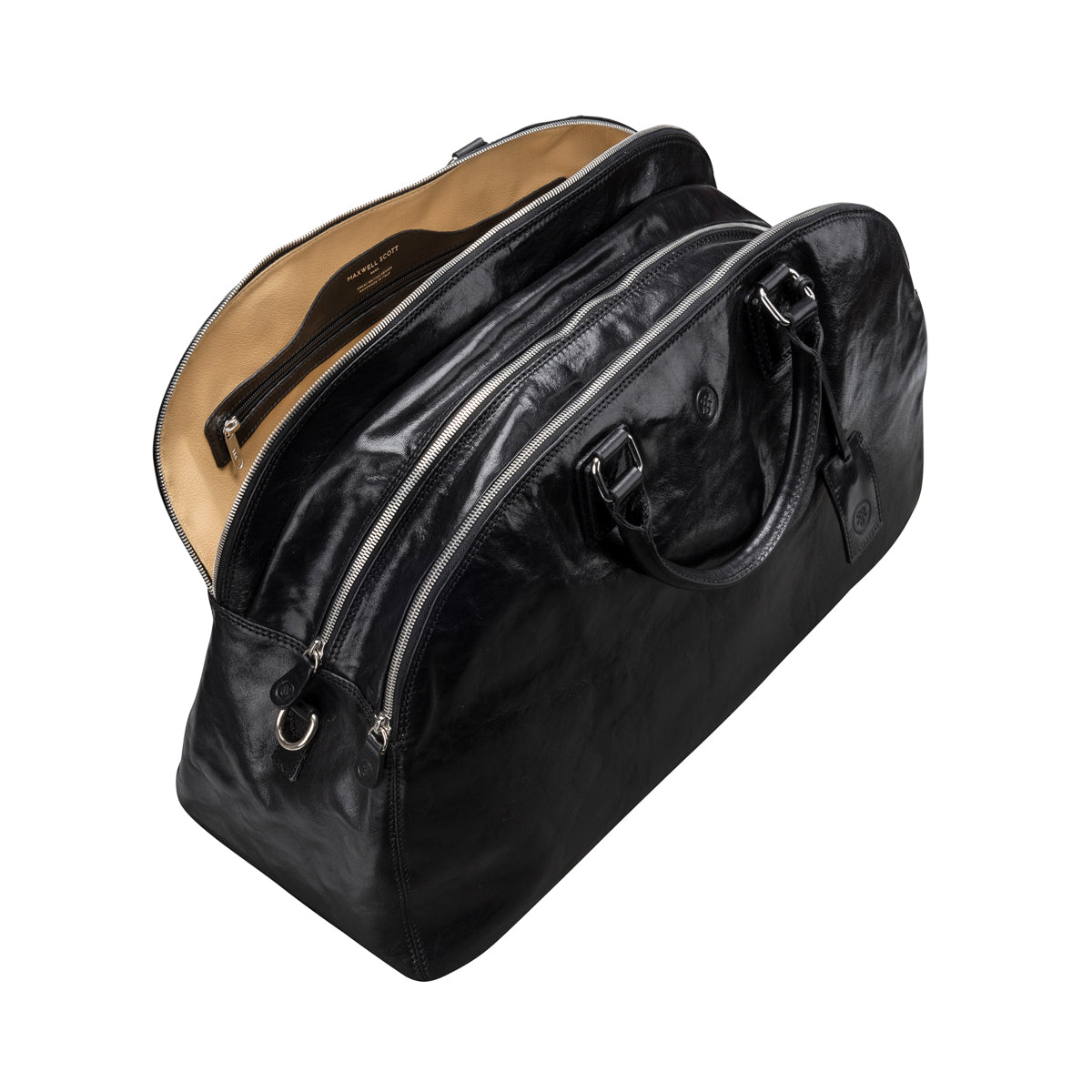 Image 5 of the 'Liliana' Black Veg-Tanned Leather Holdall