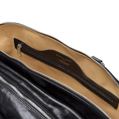 Image 7 of the 'Liliana' Black Veg-Tanned Leather Holdall