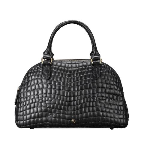 Image 1 of the 'LilianaS' Mock Croc Leather Ladies Bowling Bag