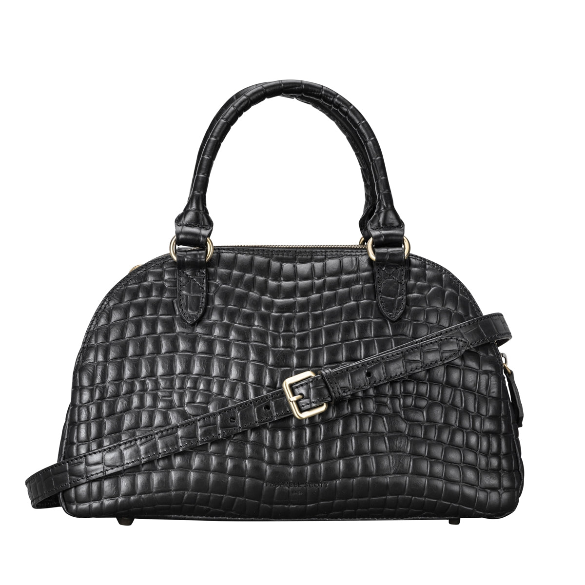 Image 4 of the 'LilianaS' Mock Croc Leather Ladies Bowling Bag