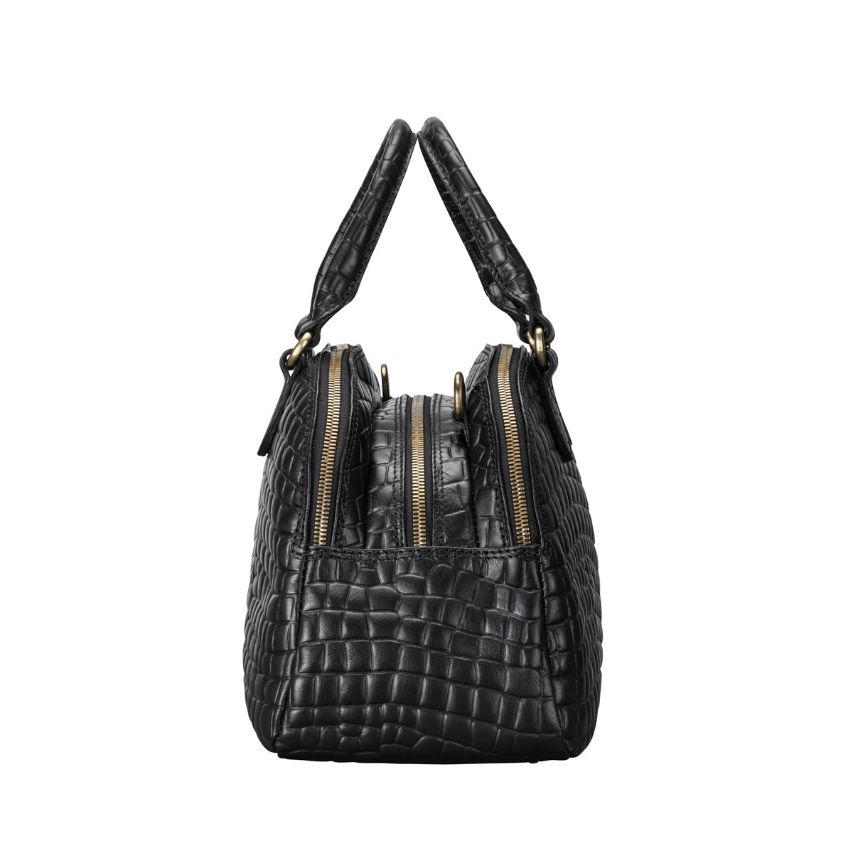 Image 3 of the 'LilianaS' Mock Croc Leather Ladies Bowling Bag