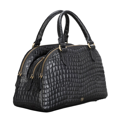 Image 2 of the 'LilianaS' Mock Croc Leather Ladies Bowling Bag