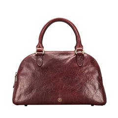 Image 1 of the 'LilianaS' Wine Leather Bowling Bag Handbag