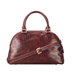 Image 3 of the 'LilianaS' Wine Leather Bowling Bag Handbag