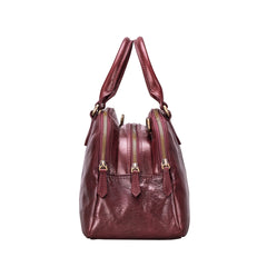 Image 2 of the 'LilianaS' Wine Leather Bowling Bag Handbag