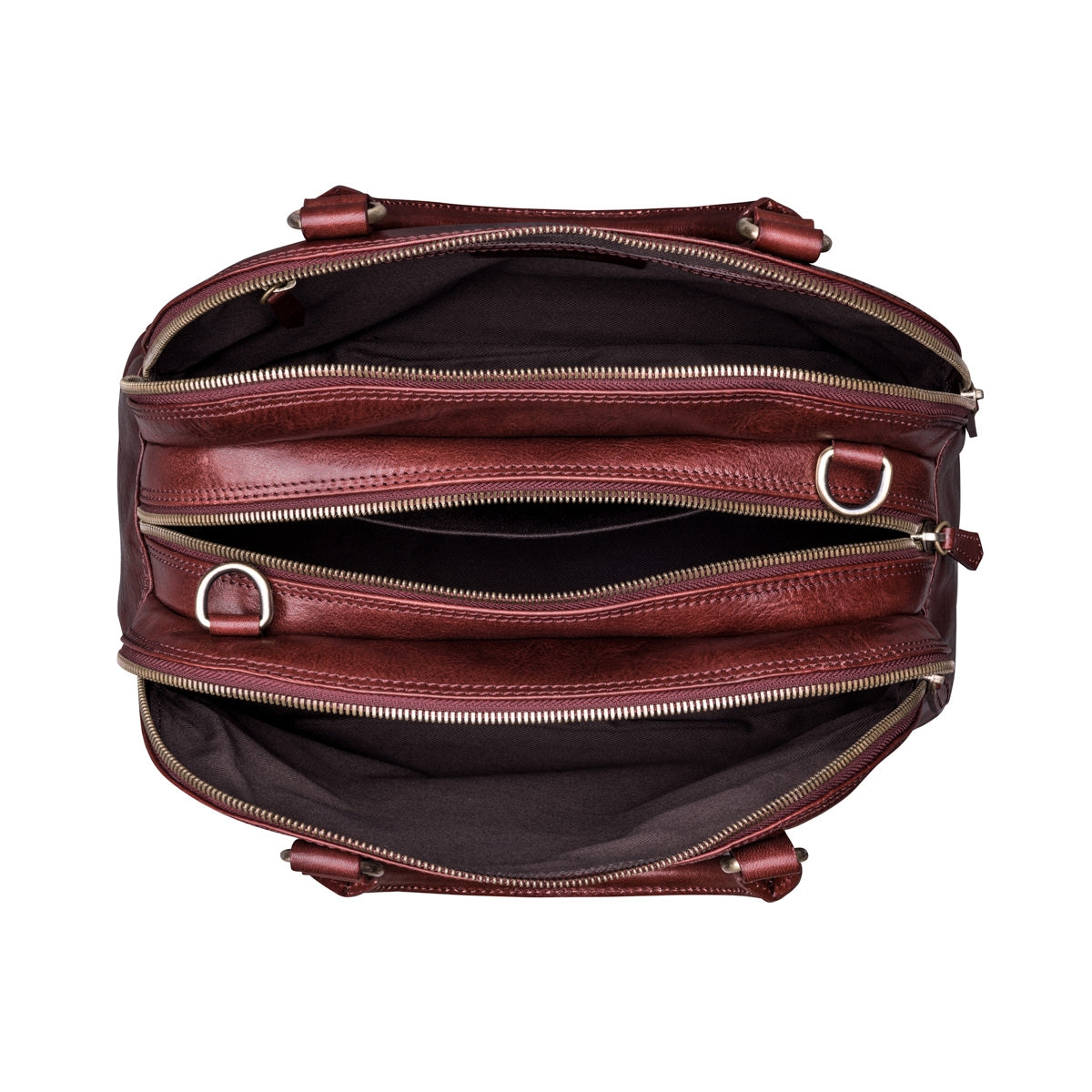 Image 5 of the 'LilianaS' Wine Leather Bowling Bag Handbag