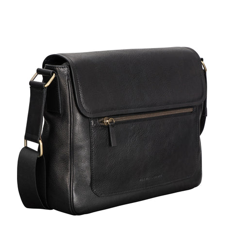 Image 2 of the 'Livorno' Black Leather Satchel Bag