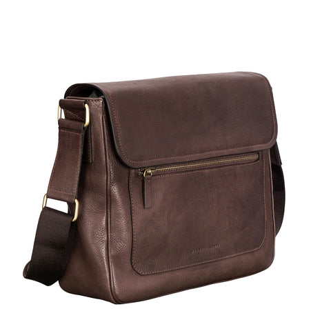 Image 2 of the 'Livorno' Brown Leather Men's Satchel Work Bag