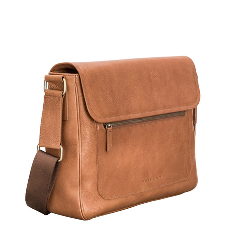 Image 2 of the 'Livorno' Camel Leather Satchel