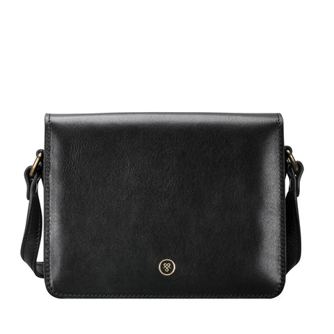 Image 1 of the 'Lucca' Small Black Veg-Tanned Leather Handbag
