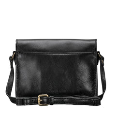 Image 4 of the 'Lucca' Small Black Veg-Tanned Leather Handbag