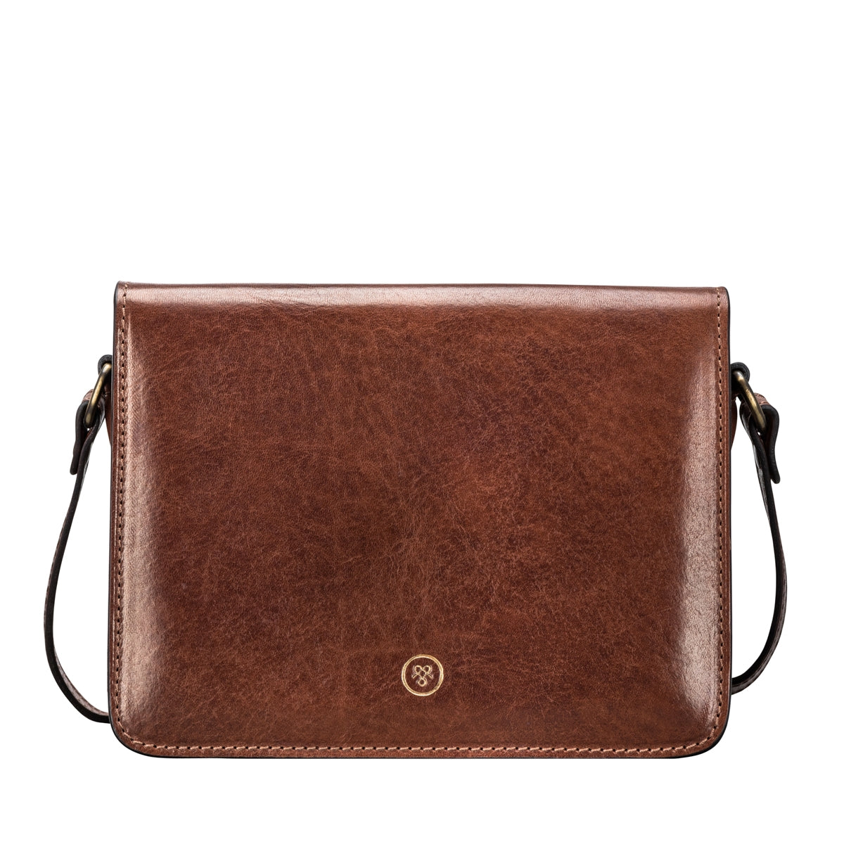 Image 1 of the 'Lucca' Small Chestnut Veg-Tanned Leather Handbag
