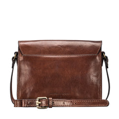 Image 4 of the 'Lucca' Small Chestnut Veg-Tanned Leather Handbag