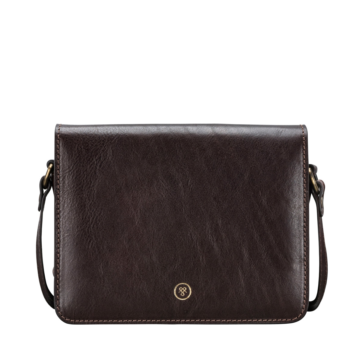 Image 1 of the 'Lucca' Small Dark Chocolate Veg-Tanned Leather Handbag