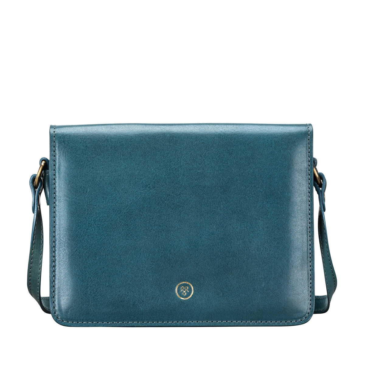 Image 1 of the Lucca' Petrol Leather Cross Body Bag