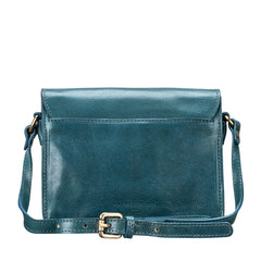 Image 4 of the Lucca' Petrol Leather Cross Body Bag