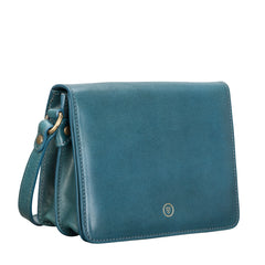 Image 2 of the Lucca' Petrol Leather Cross Body Bag