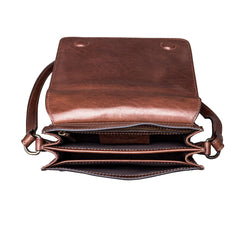 Image 6 of the 'Lucca' Small Chestnut Veg-Tanned Leather Handbag