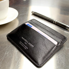 Image 7 of the 'Marco' Black Veg-Tanned Leather Wallet